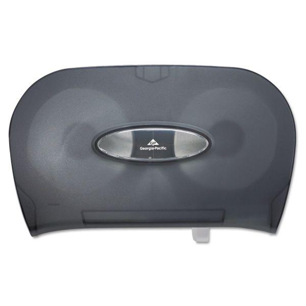 Georgia Pacific Two-Roll Bathroom Tissue Dispenser, 13 9/16 x 5 3/4 x 8 5/8, Smoke
