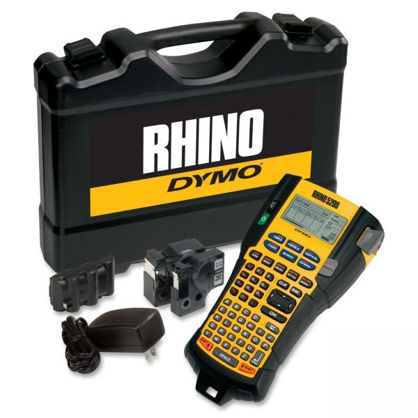 DYMO Rhino 5200 Industrial Label Maker Kit, 5 Lines, 4 9/10w x 9 1/5d x 2 1/2h