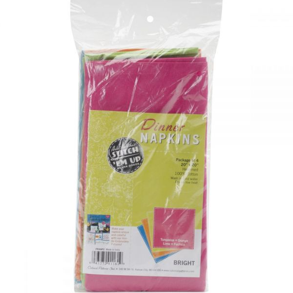 "Stitch 'Em Up Dinner Napkins 20""X20"" 4/Pkg"