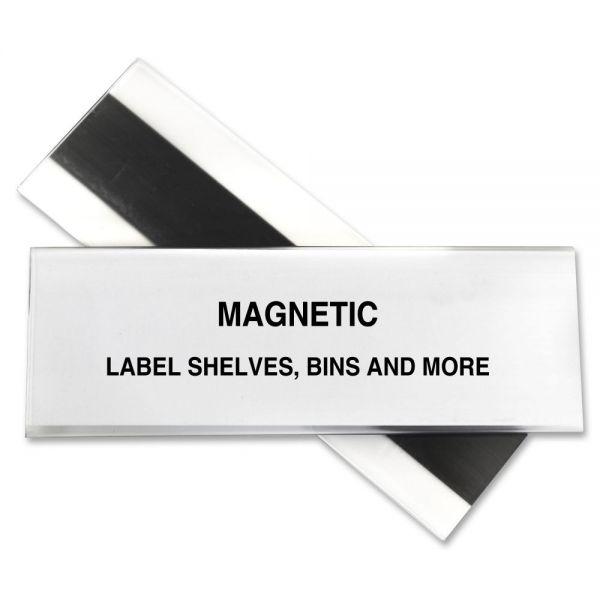 "C-line HOL-DEX Magnetic Shelf/Bin Label Holders 2"" x 6"""