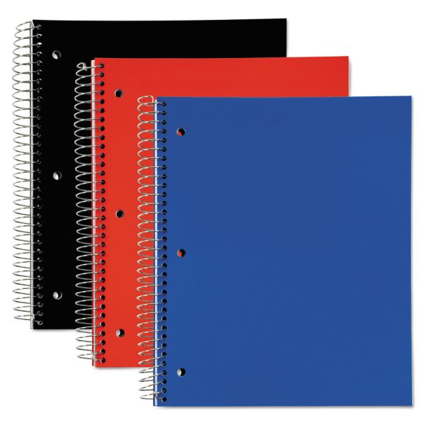 TOPS 5 Subject, Poly Notebook, 11 x 8, Legal/Wide, Assorted, 180 Sheets