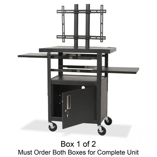Balt Height Adjustable Flat Panel TV Cart Box 1 of 2