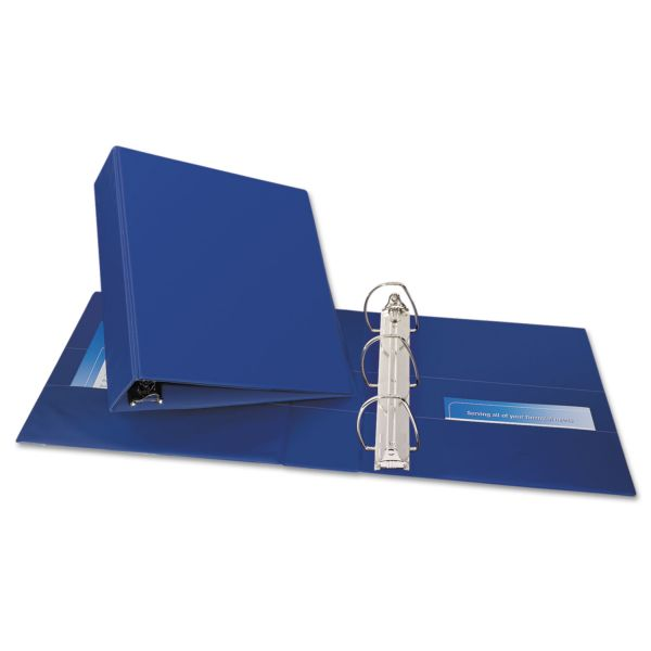 """Avery Durable 3-Ring Binder with Two Booster EZD Rings, 3"""" Capacity, Blue"""