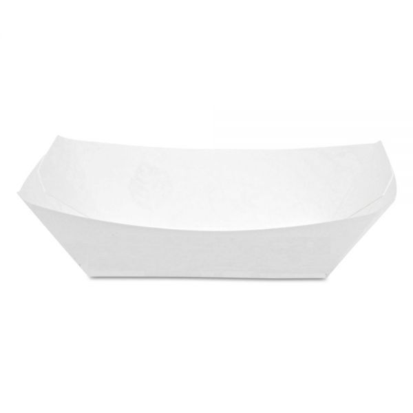 Dixie Kant Leek Polycoated Paper Food Tray, 4 7/10X6 1/2x1 3/5, White, 250/BG, 4/CT