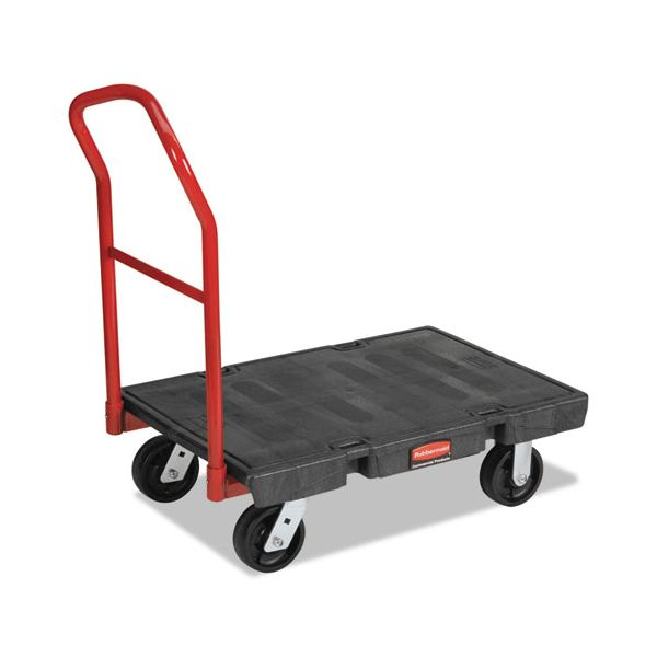 Rubbermaid Commercial Platform Truck, 1000-lb Cap, 24w x 36d x 7h, Black