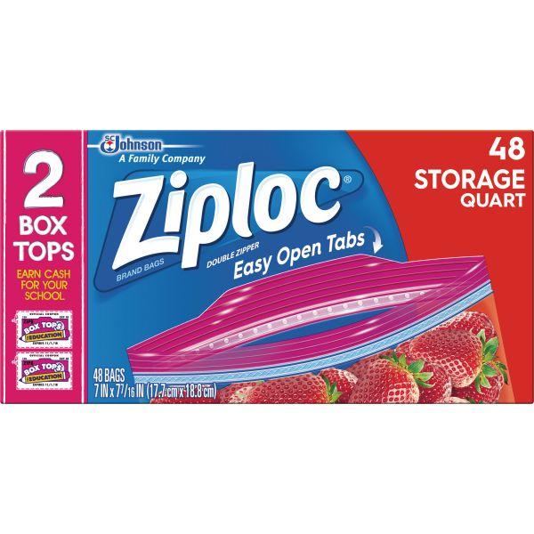 Ziploc Quart Size Storage Bags