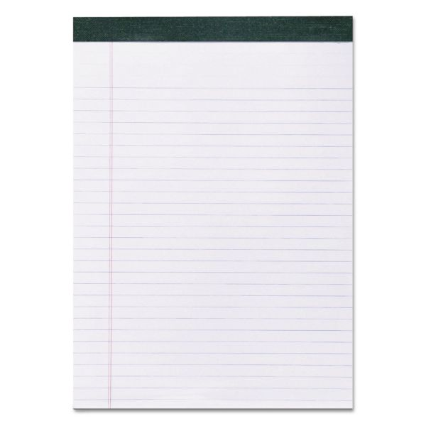 Roaring Spring Recycled Legal Pad, 8 1/2 x 11 Sheets, 40/Pad, White, Dozen