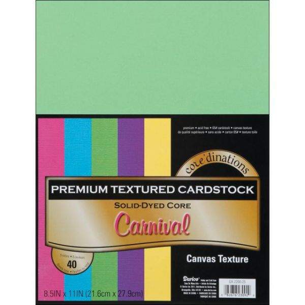 Core'dinations Premium Textured Carnival Cardstock
