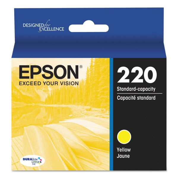 Epson 220 DURABrite Ultra Yellow Ink Cartridge (T220420)