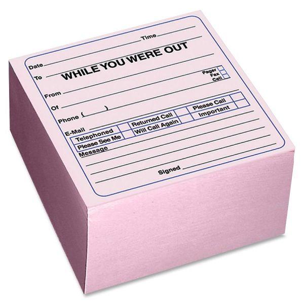 Rediform Self-Stick WYWO Message Cube