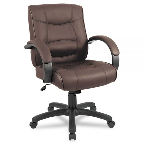 Alera Strada Series Leather Mid-Back Swivel/Tilt Office Chair