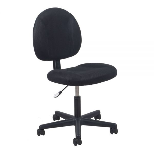 Essentials by OFM Swivel Upholstered Armless Task Chair