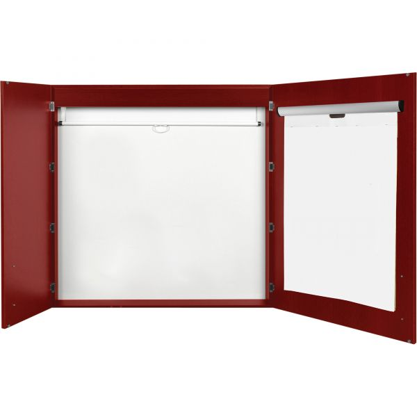 MasterVision 2-door Cherry Conference Cabinet