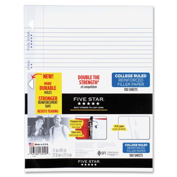 Five Star College Ruled Loose Leaf Paper
