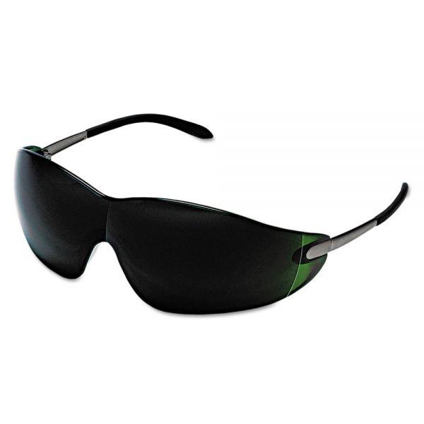 Crews Blackjack Safety Glasses, Brass Frame, Green Lens