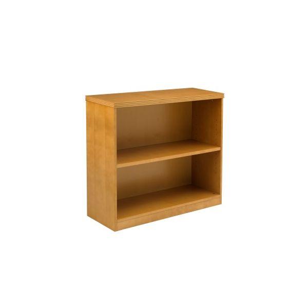 Mayline Luminary Series Wood Veneer 2-Shelf Bookcase