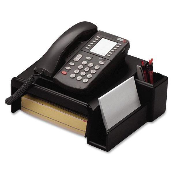 Rolodex Wood Tones Phone Center Desk Stand, 12 1/8 x 10, Black
