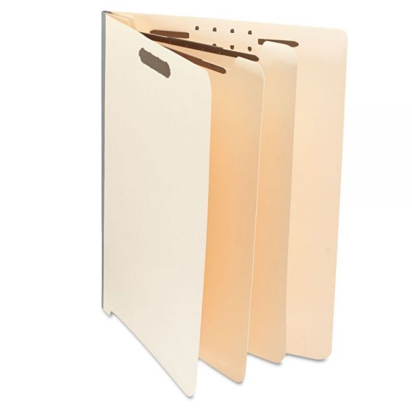 Universal Manila 2-Divider End Tab Classification Folders