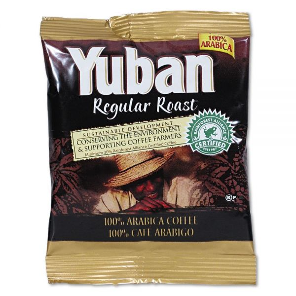 Yuban Regular Roast Coffee, 1.5oz Packs, 42/Carton