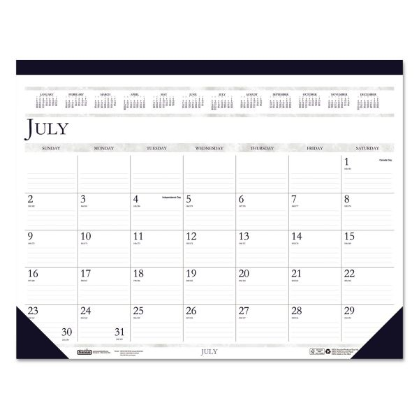 House of Doolittle Two-Color Academic Monthly Desk Pad Calendar
