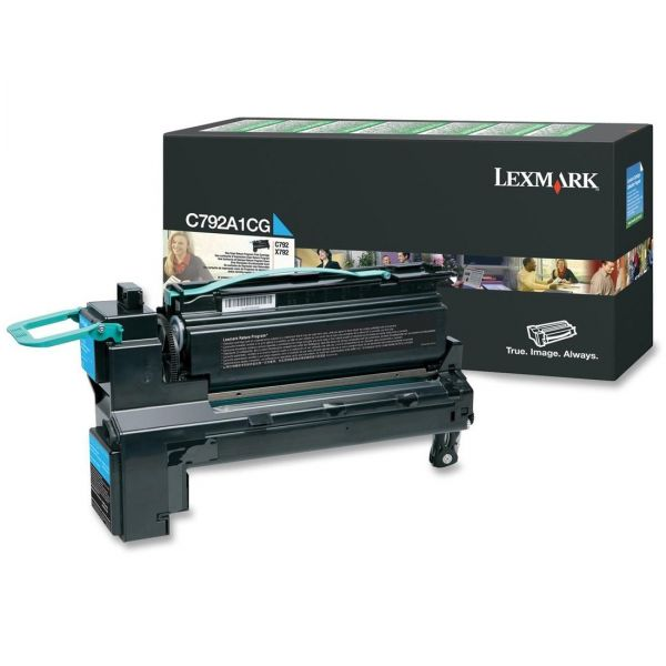 Lexmark C792A1CG Cyan Return Program Toner Cartridge