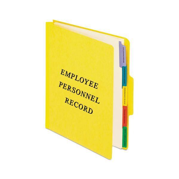 Pendaflex Personnel Folders, 1/3 Cut Top Tab, Letter, Yellow