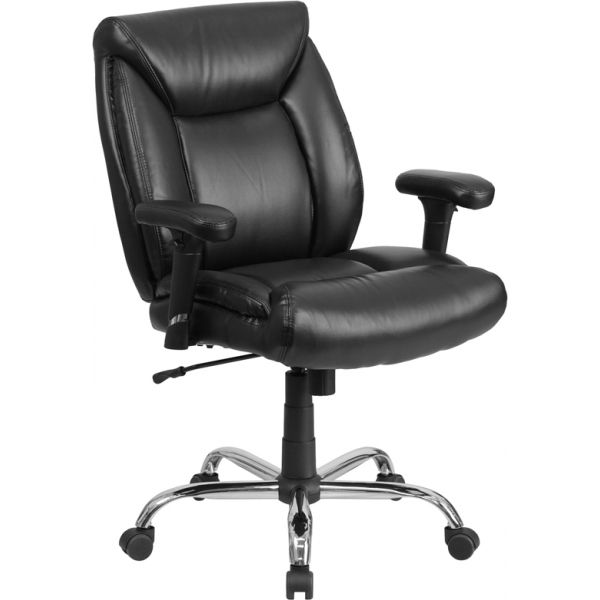 Flash Furniture Big &Tall Leather Swivel Office Chair