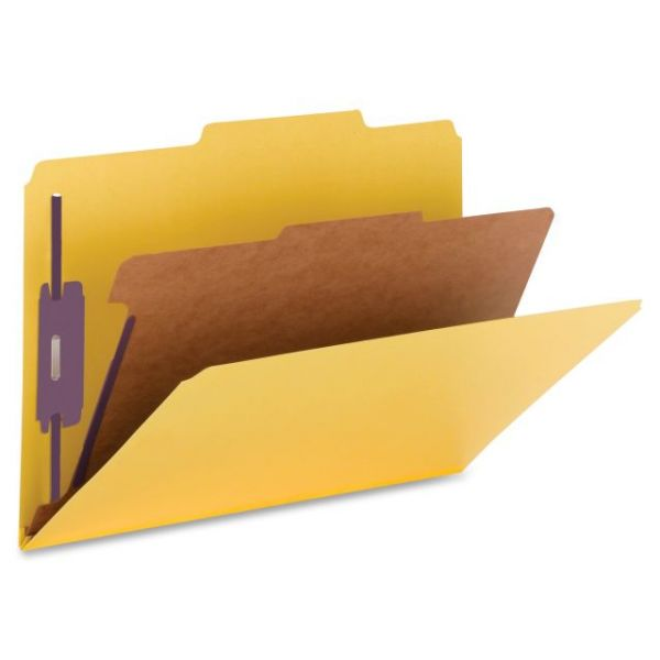 Nature Saver Top-Tab Yellow Classification Folders