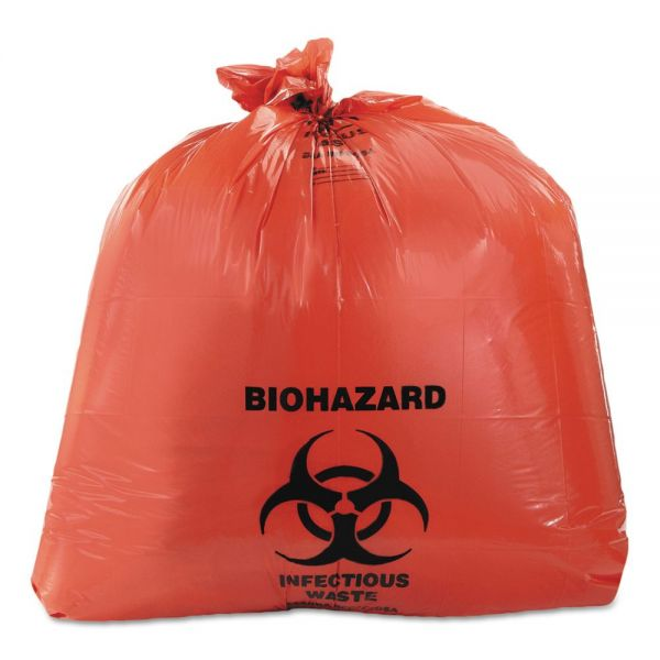 Heritage Healthcare Biohazard Printed 45 Gallon Trash Bags