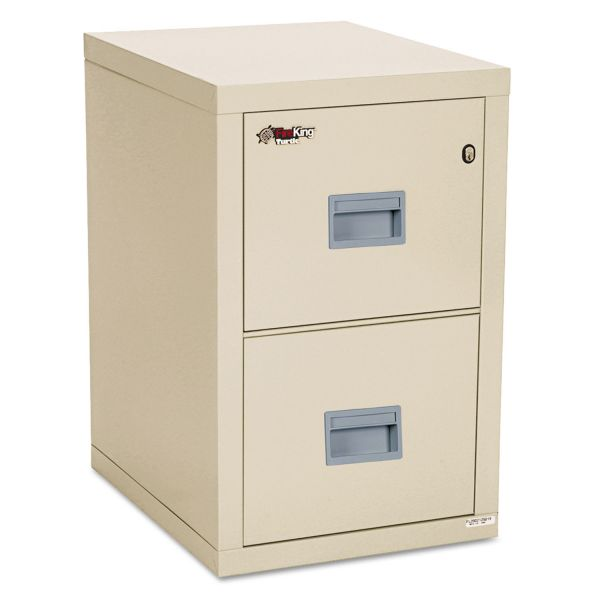 FireKing Turtle Two-Drawer File, 17 3/4w x 22 1/8d, UL Listed 350° for Fire, Parchment