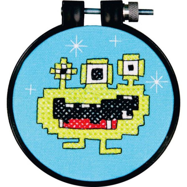Learn-A-Craft Monster Stamped Cross Stitch Kit