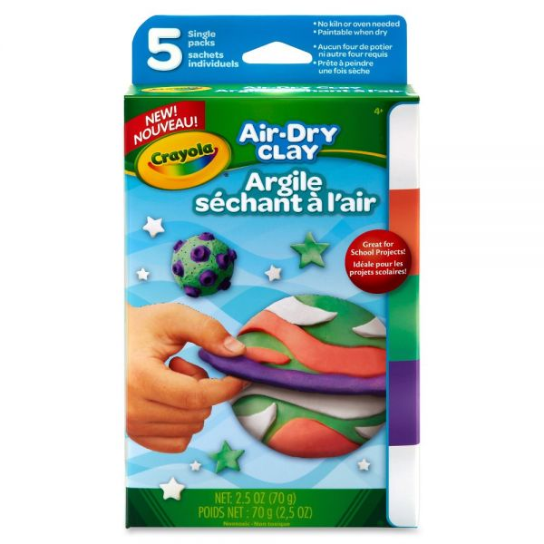 Crayola Air Dry Clay Bright Colors Variety Pack