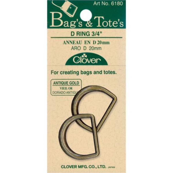 """D-Rings 3/4"""" 2/Pkg"""