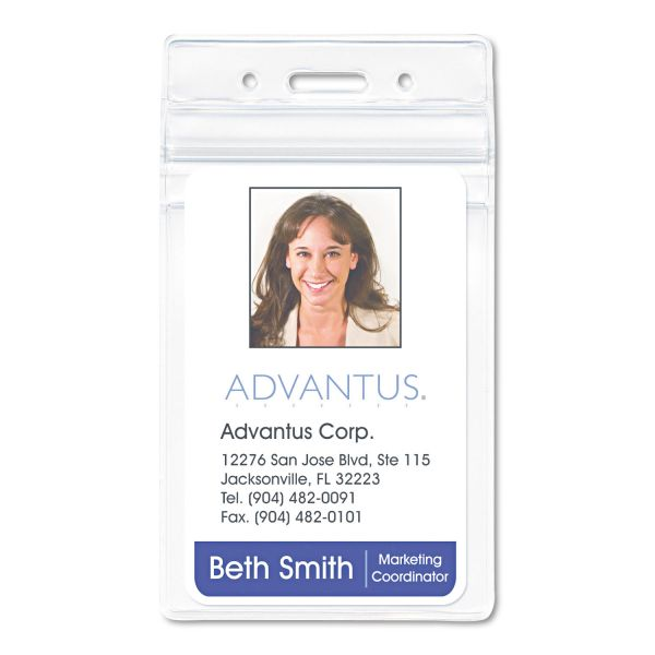 Advantus PVC-Free Vertical Badge Holders