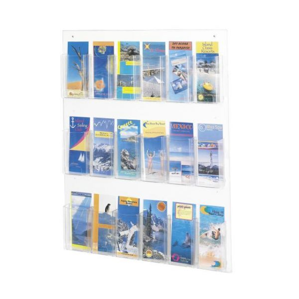 Safco Clear2c 18 Pamphlet Display Rack