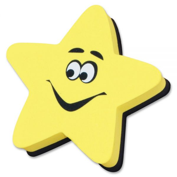 Ashley Yellow Star Magnetic WhiteBoard Eraser