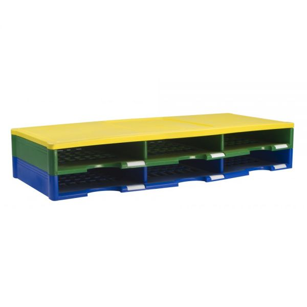 Storex 6-Compartment Literature Organizer