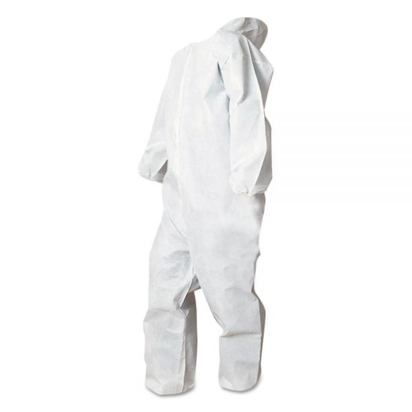 Boardwalk Disposable Coveralls, White, XXL, Polypropylene, 25/Carton