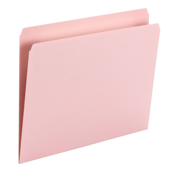 Smead Pink Colored File Folders