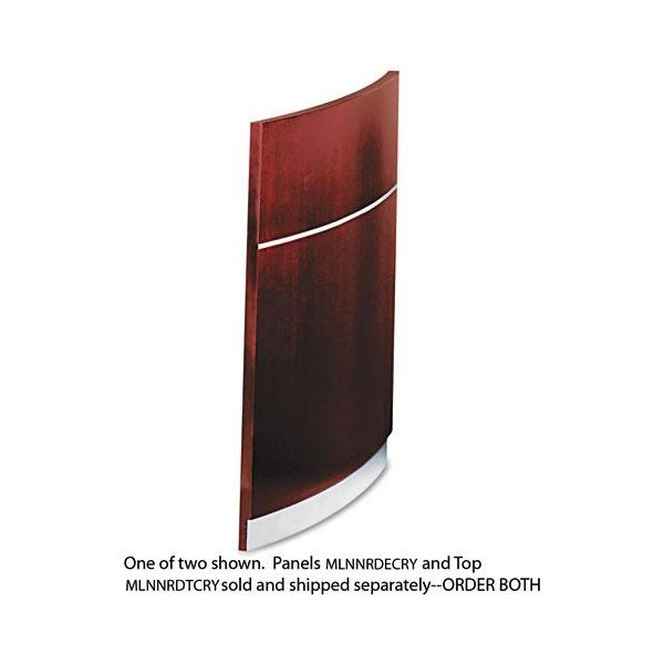 Tiffany Industries Napoli Veneer Desk End Panels, 37-1/4w x 29-1/2h, Cherry, Two per Set