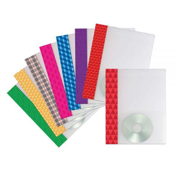 Storex Fashion Print Poly Two Pocket Folders