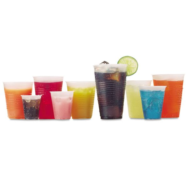 Fabri-Kal RK Ribbed 10 oz Plastic Cold Cups
