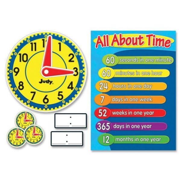 Judy Clock Bulletin Board Set