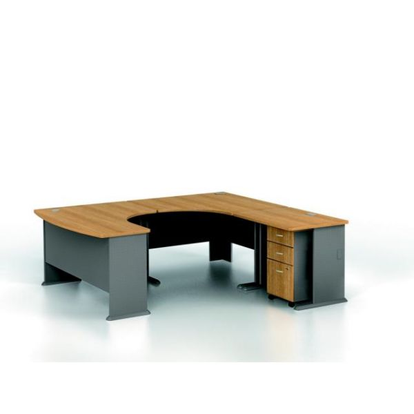 Bush Furniture Series A Professional Configuration - Light Oak finish
