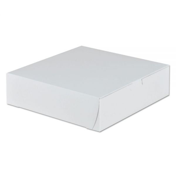 SCT Tuck-Top Bakery Boxes, 9w x 9d x 2 1/2h, White, 250/Carton