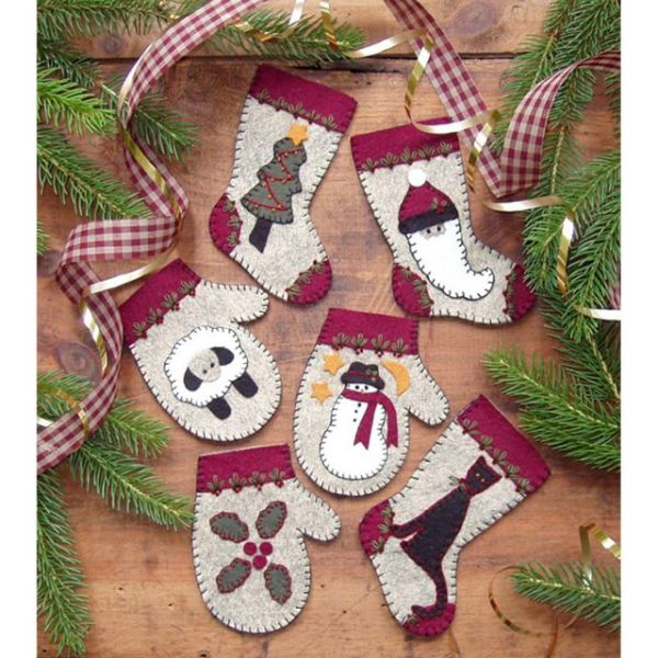 Christmas Woolens Ornament Kit 6/Pkg