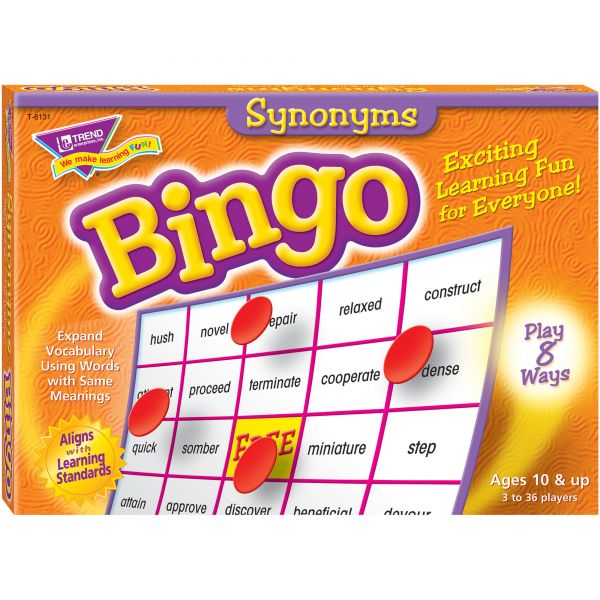 Synonyms Bingo Game