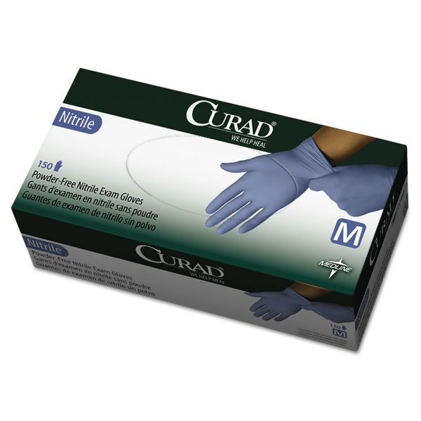 Curad Disposable Nitrile Exam Gloves