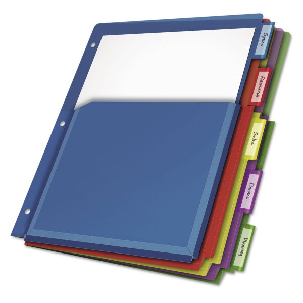 Cardinal Expanding Pocket Insertable Tab Index Dividers