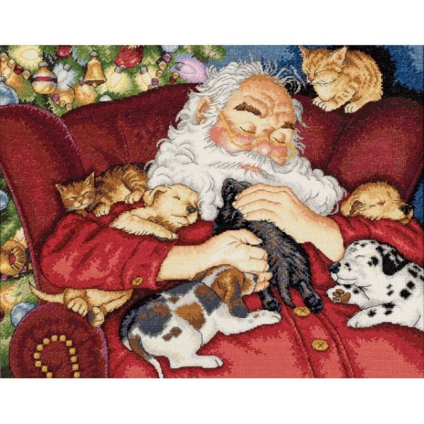 Dimensions Gold Collection Santa's Nap Counted Cross Stitch Kit